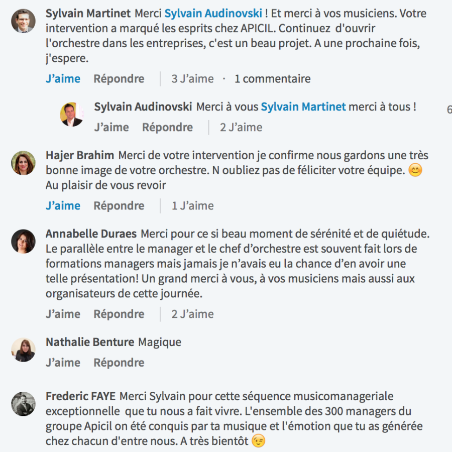 Les meilleurs temoignages   Sylvain AUDINOVSKI